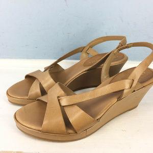 new Antonio Melani 6 Tan Brown Low wedge Sandals